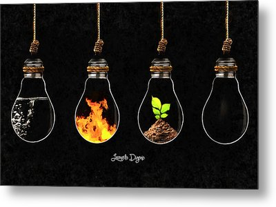 The Four Elements - Da Metal Print by Leonardo Digenio