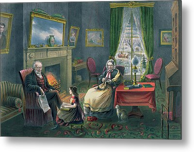 The Four Seasons Of Life  Old Age Metal Print by Currier and Ives