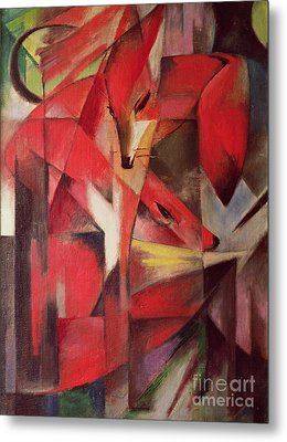 The Fox Metal Print by Franz Marc