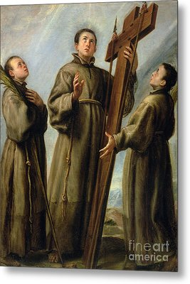 The Franciscan Martyrs In Japan Metal Print by Don Juan Carreno de Miranda