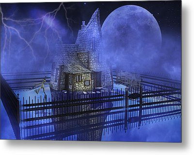 The Frog Who Loves Storms Metal Print by Betsy C Knapp