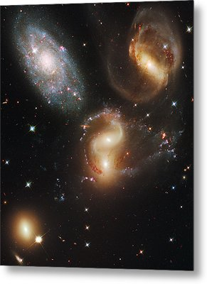 The Galaxies Of Stephans Quintet Metal Print by Nasa/Esa