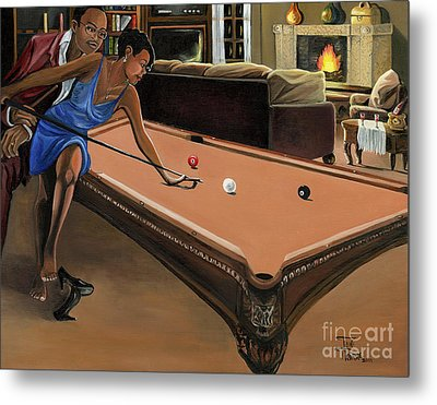 The Game Metal Print by Toni  Thorne
