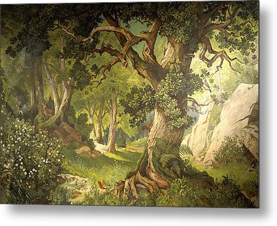 The Garden Of The Magician Klingsor, From The Parzival Cycle, Great Music Room Metal Print by Christian Jank