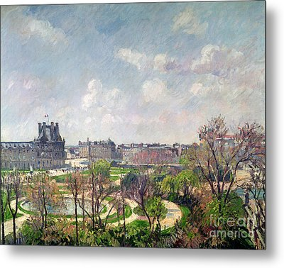 The Garden Of The Tuileries Metal Print by Camille Pissarro