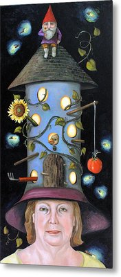The Gardener Metal Print by Leah Saulnier The Painting Maniac