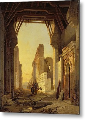 The Gates Of El Geber In Morocco Metal Print by Francois Antoine Bossuet