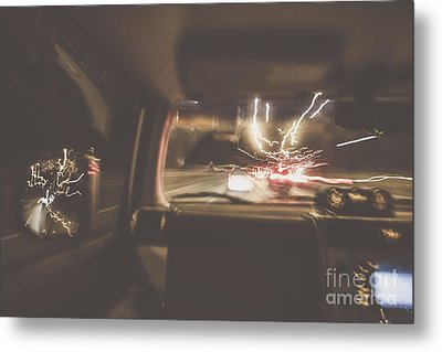The Getaway Car Chase Metal Print by Jorgo Photography - Wall Art Gallery