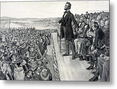 The Gettysburg Address Metal Print by American School