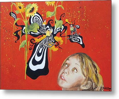 The Girl With Kaleidoscope Eyes Metal Print by Jacqueline DelBrocco