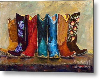 The Girls Are Back In Town Metal Print by Frances Marino