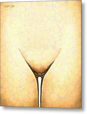 The Glass - Da Metal Print by Leonardo Digenio