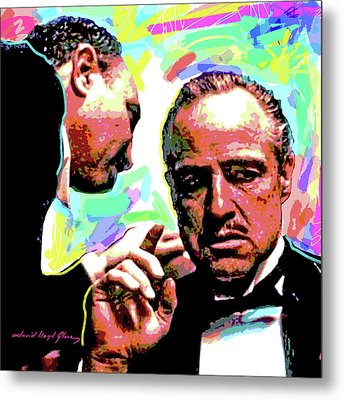 The Godfather - Marlon Brando Metal Print by David Lloyd Glover
