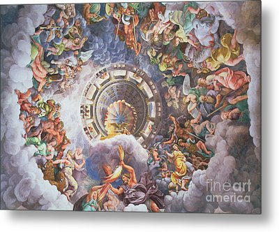 The Gods Of Olympus Metal Print by Giulio Romano