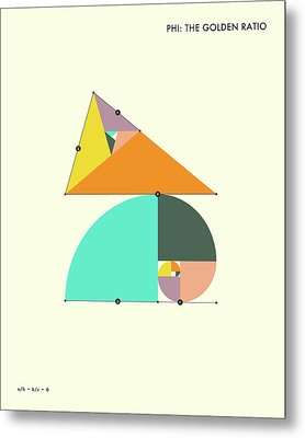 Phi - The Golden Ratio Metal Print by Jazzberry Blue