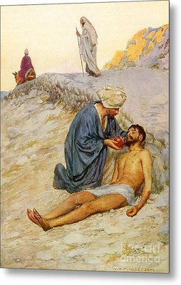 The Good Samaritan Metal Print by William Henry Margetson