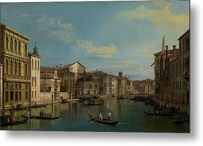 The Grand Canal In Venice From Palazzo Flangini To Campo San Marcuola Metal Print by Mountain Dreams
