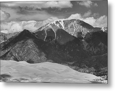 The Great Colorado Sand Dunes  125 Black And White Metal Print by James BO  Insogna