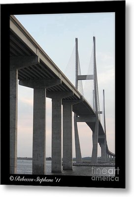 The Great Connection Sidney Lanier Bridge Metal Print by Rebecca  Stephens