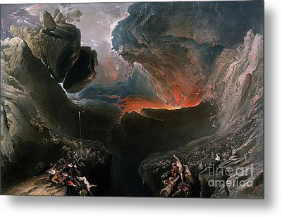 The Great Day Of His Wrath Metal Print by Charles Mottram