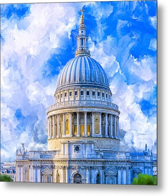 The Great Dome - St Paul's Cathedral Metal Print by Mark Tisdale