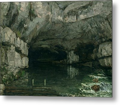 The Grotto Of The Loue Metal Print by Gustave Courbet