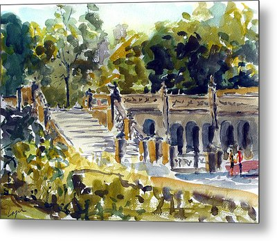 The Grotto Steps Metal Print by Chris Coyne