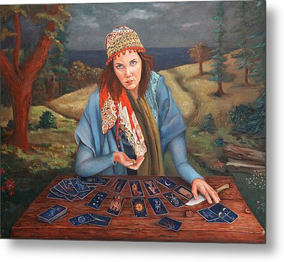 The Gypsy Fortune Teller Metal Print by Enzie Shahmiri