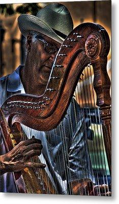 The Harp Player Metal Print by David Patterson