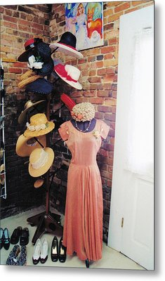 The Hat Rack Metal Print by Jan Amiss Photography