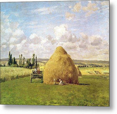 The Haystack Metal Print by Camille Pissarro
