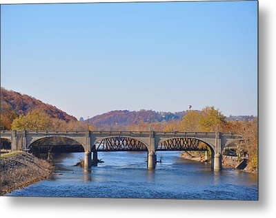 The Hill To Hill Bridge - Bethlehem Pa Metal Print by Bill Cannon