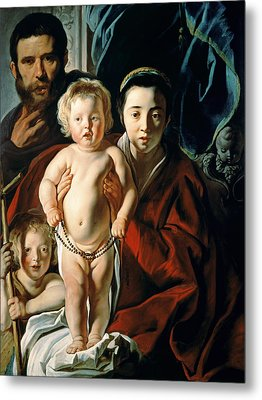 The Holy Family With St. John The Baptist Metal Print by Jacob Jordaens