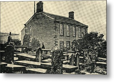 The Home Of Charlotte Bronte,1816-1855 Metal Print by Vintage Design Pics