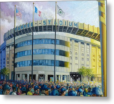 The House That Steinbrenner Wrecked Opening Day  Metal Print by Gregg Hinlicky