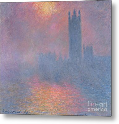 The Houses Of Parliament London Metal Print by Claude Monet