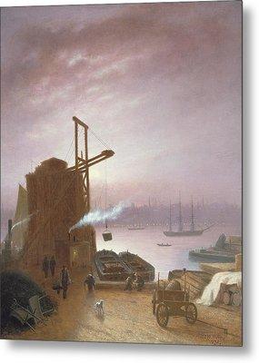 The Hudson River From Hoboken Metal Print by Robert Walter Weir