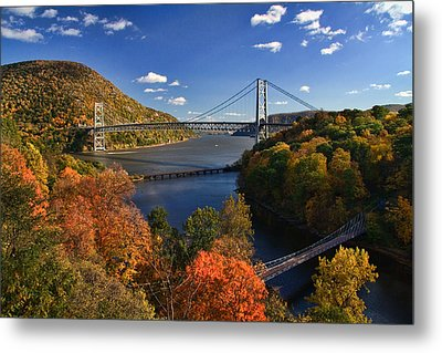 The Hudson River Valley In Autumn Metal Print by June Marie Sobrito