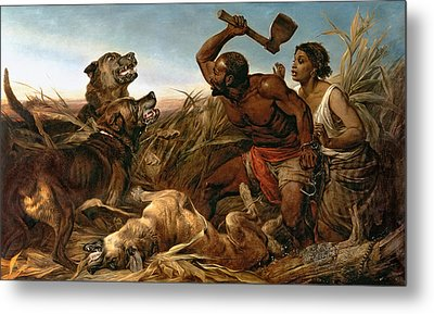 The Hunted Slaves Metal Print by Richard Ansdell