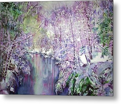 The Ice Storm  Metal Print by June Conte  Pryor
