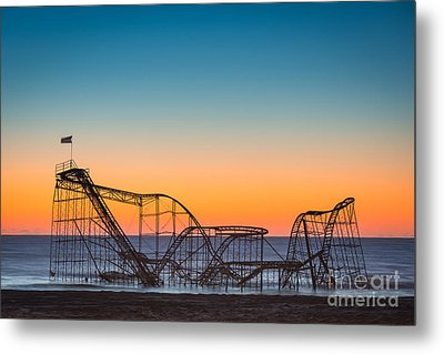 The Iconic Star Jet Roller Coaster Metal Print by Michael Ver Sprill