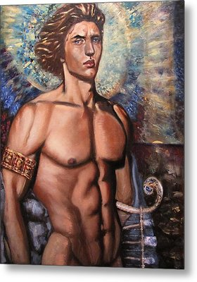 The Incarnation Of The Archangel Michael Metal Print by Aleksei Gorbenko