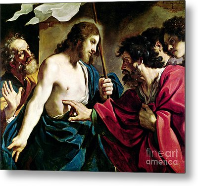 The Incredulity Of Saint Thomas Metal Print by Guercino