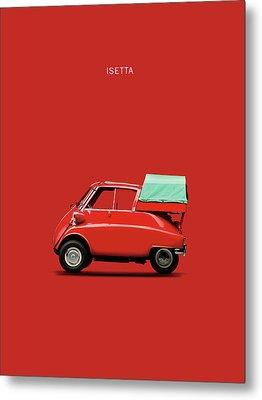 The Isetta 300 Red Metal Print by Mark Rogan
