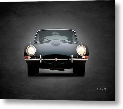 The Jaguar E Type Metal Print by Mark Rogan