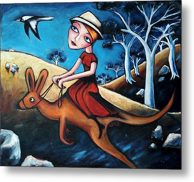 The Journey Woman Metal Print by Leanne Wilkes