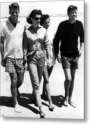 The Kennedys, Robert, Jackie, Ethel Metal Print by Everett