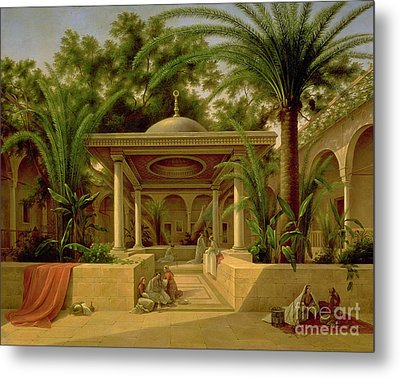 The Khabanija Fountain In Cairo Metal Print by Grigory Tchernezov