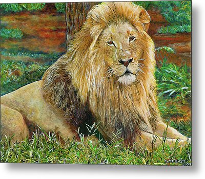 The King Metal Print by Michael Durst