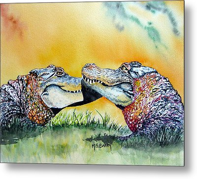 The Kiss Metal Print by Maria Barry
